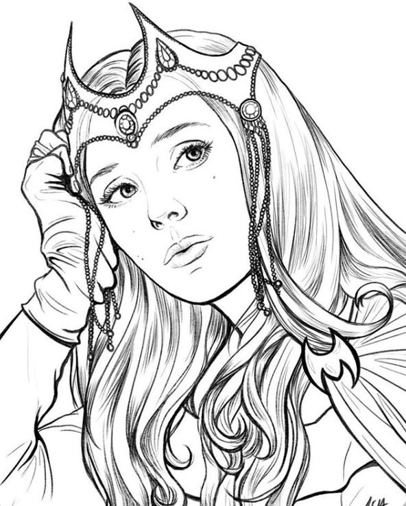 enchantress marvel coloring pages - photo#21