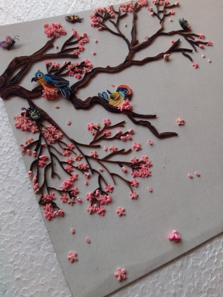 Cherry Blossoms Quilling Designs Paper Quilling Designs Quilling Craft