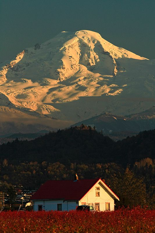 Mt Baker from Canada - Abbotsford, British Columbia