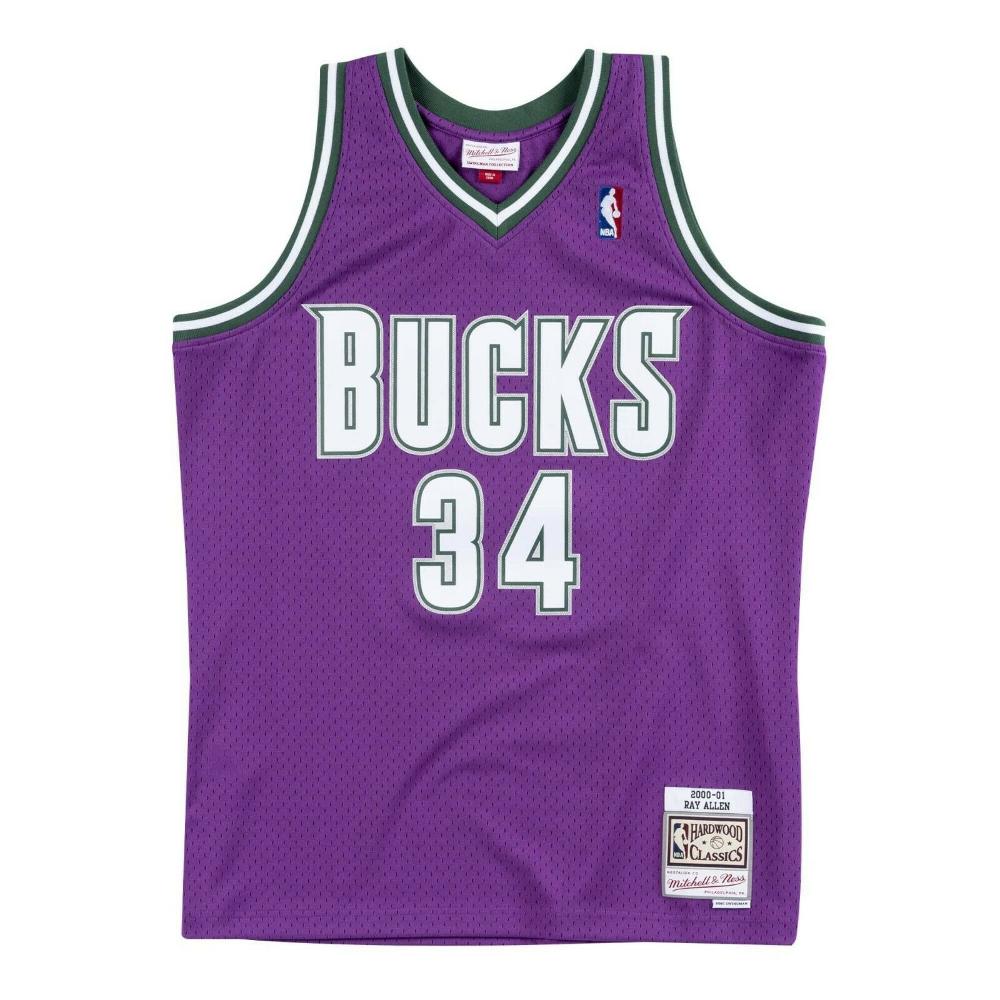 Mitchell Ness Nba Milwaukee Bucks Ray Allen Purple Swingman Jersey Ebay Milwaukee Bucks Ray Allen Jersey