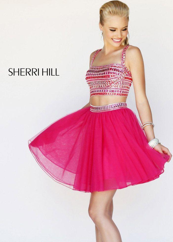 Sherri Hill 11060 Pink Homecoming Dress   Short Sherri Hill Prom ...