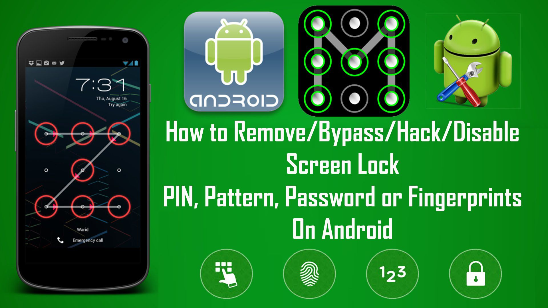[Infographic] How to Bypass Android's Lock Screen Pattern
