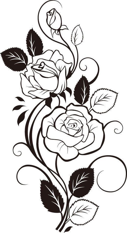 Line Drawing Rose Tattoo : Thighs or side of leg body art pinterest and legs