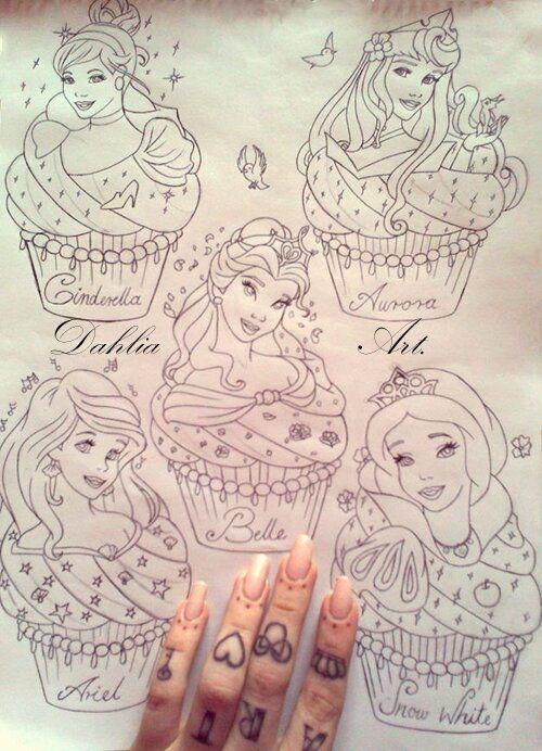 Photo of Disney Princess Cupcake Drawing