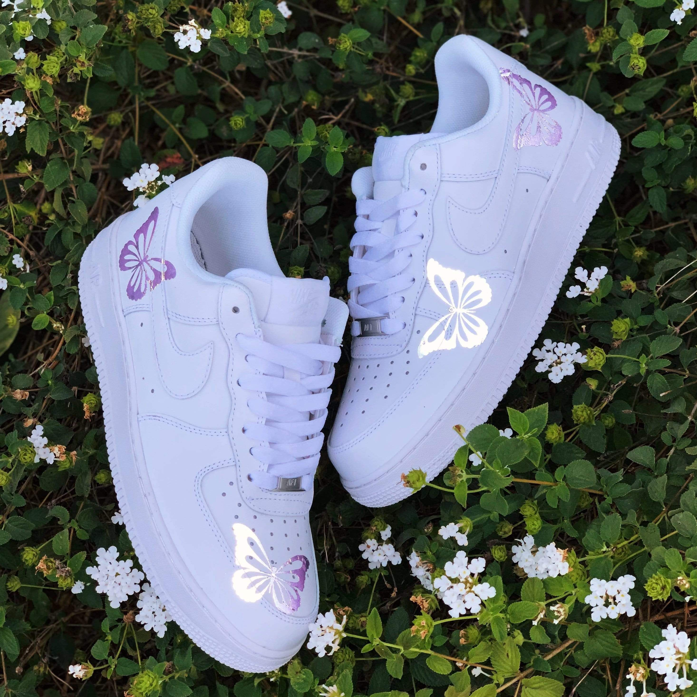 Reflective Purple Butterfly AF1 Each individual pair is