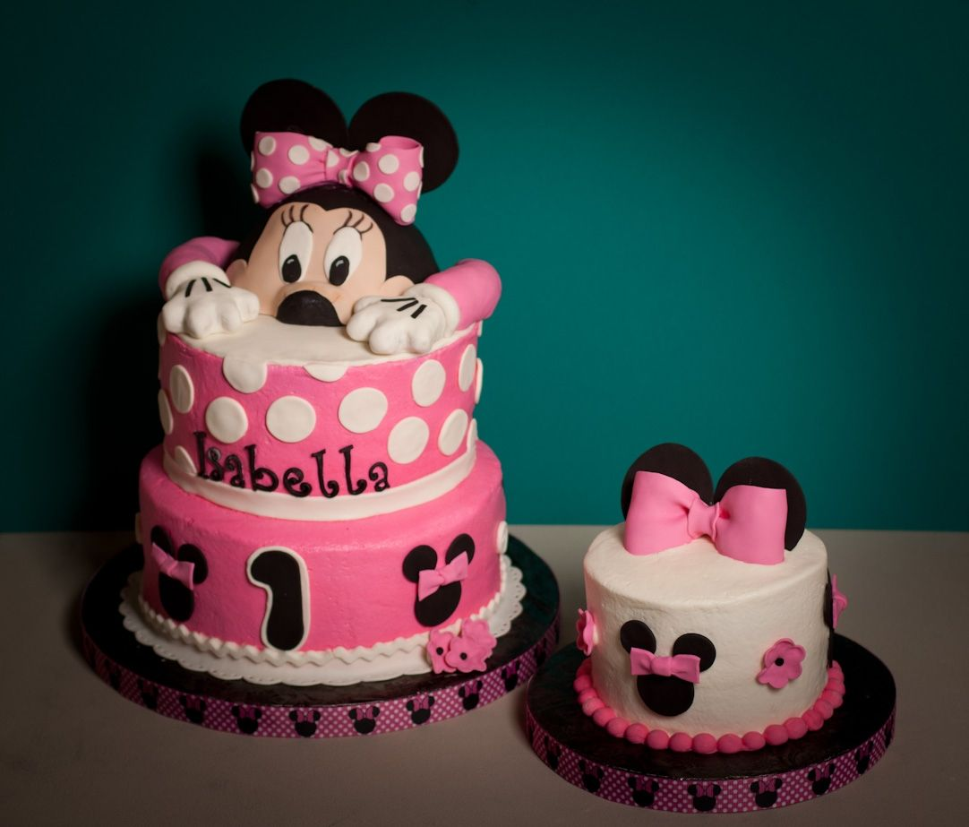 Family Food And Fun First Birthday Cake: 1st Birthday Minnie Mouse Cake