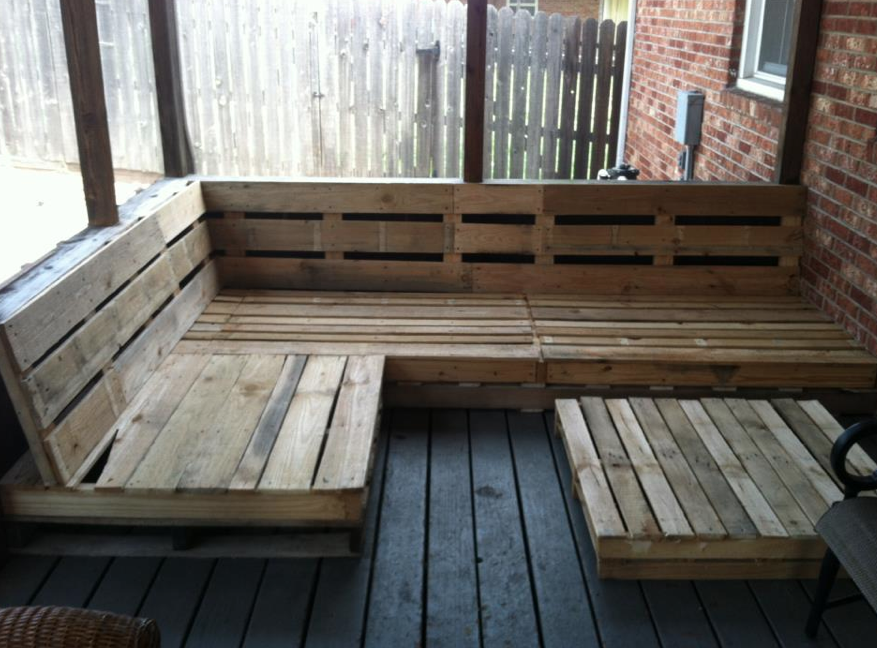 Pallet Deck Bench Diy Furniture Easy