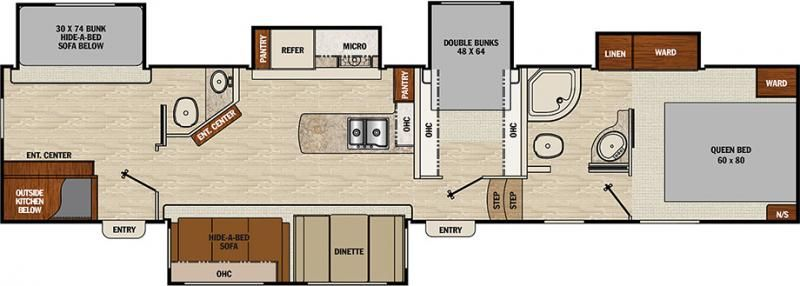 Image result for Floor plan Coachmen Chaparral 360IBL Fifth Wheel ...