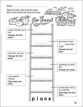 Air Travel Word Ladder Grades 1 2 Word Ladders Word Study Lessons Word Study Word ladder worksheets