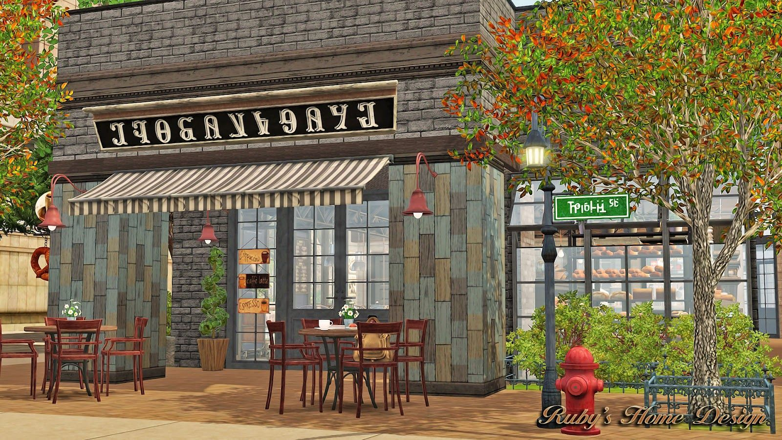 Rubyu0027s Home Design   Cafe Croissant #Sims3