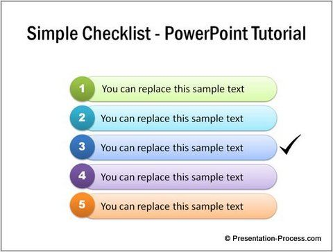 Completed Checklist Powerpoint  Tutorials