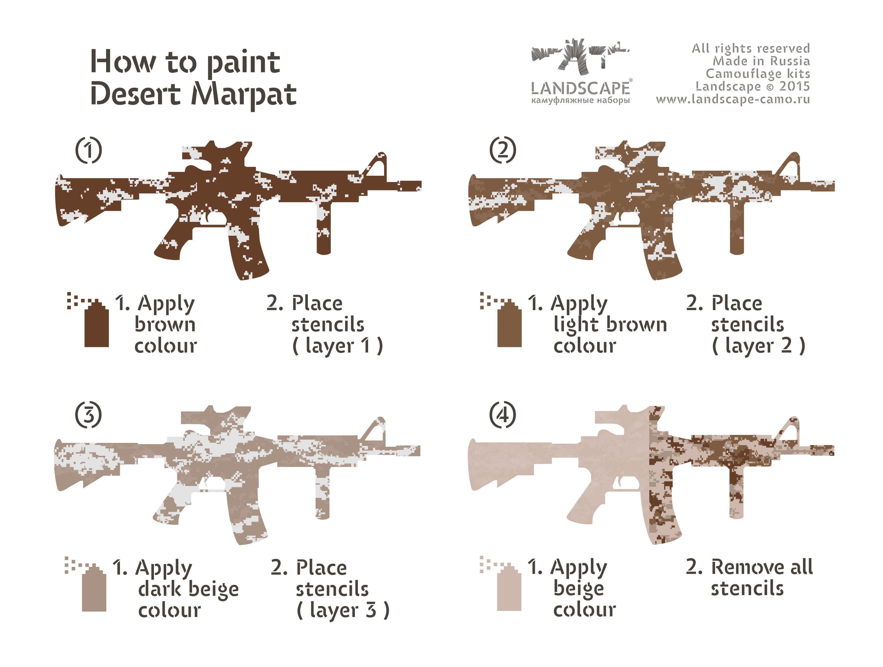 How to paint Desert Marpat | Guns/hunting | Pinterest | Painted ...