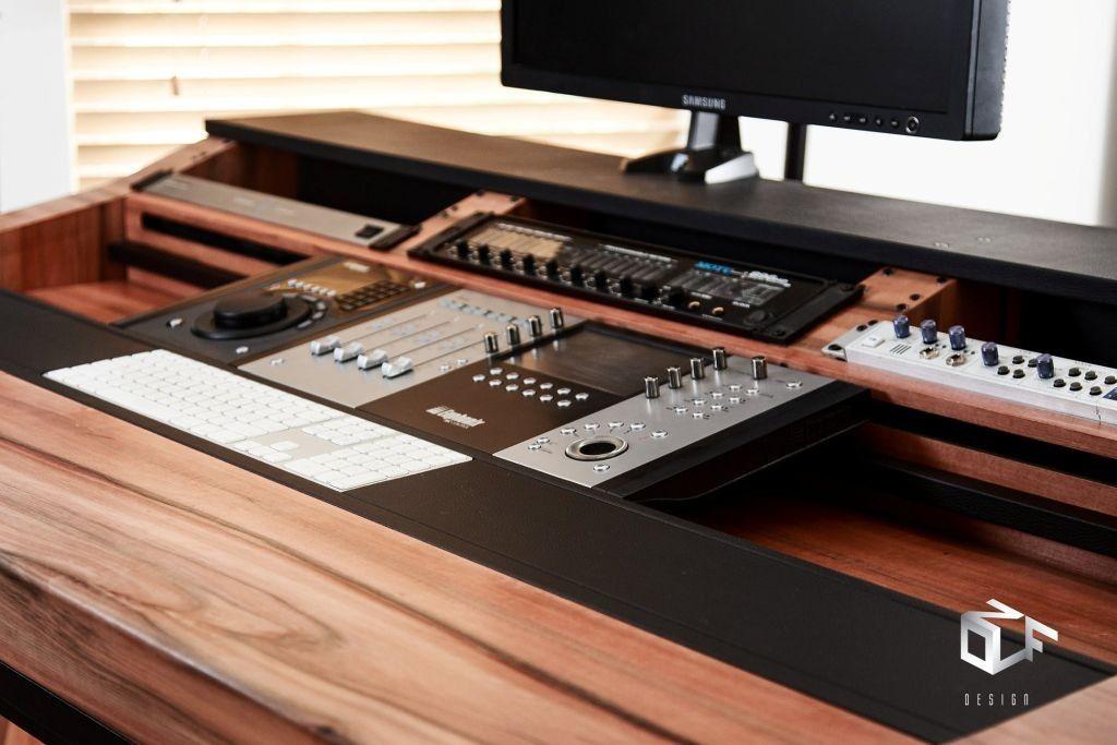 pleasing diy recording studio desk. Custom built recording studio desk  to house Doepfer LMK2 Real wood Ash Veneer finish www studioracks co uk Recording Pinterest Studio