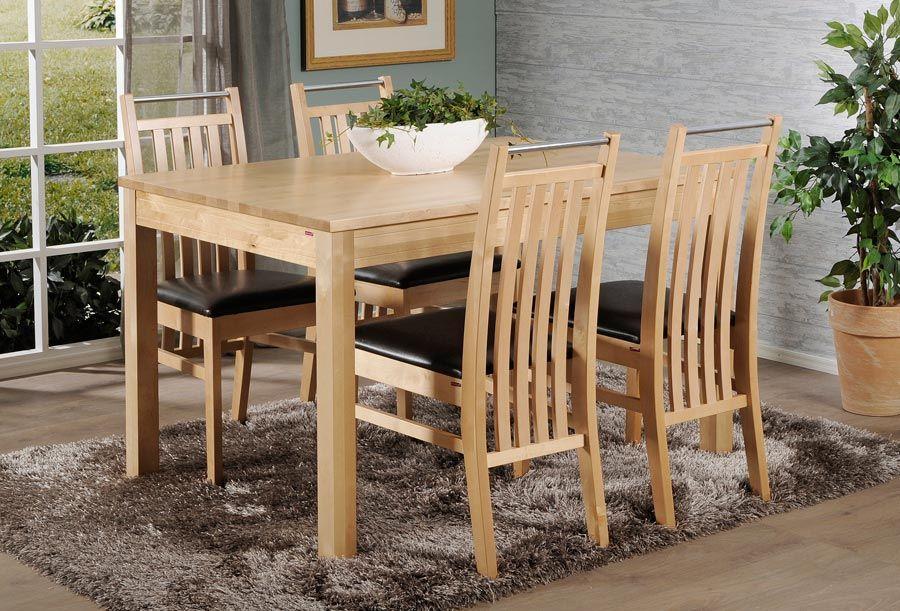MODULI-pöytä 120x85cm ja 4kpl EERIKA-pinnatuoli HR2 pyökki | Sotka.fi
