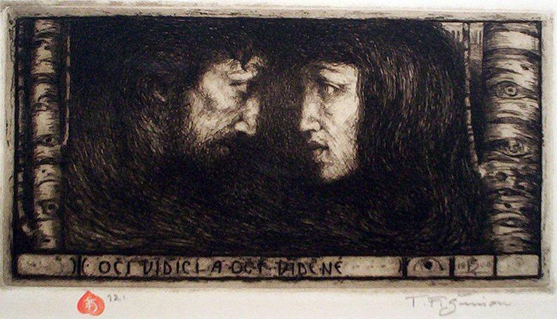Tavik Frantisek Simon, Dreaming eyes, 1912