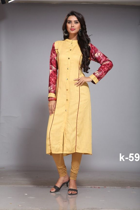 891038c01d #Readymade #Yellow #Rayon #Printed #Top #Kurtis #nikvik #usa #designer # australia #canada #freeshipping #dress #tunic