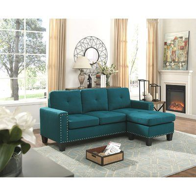 Ebern Designs Steck Reversible Sectional Upholstery Color