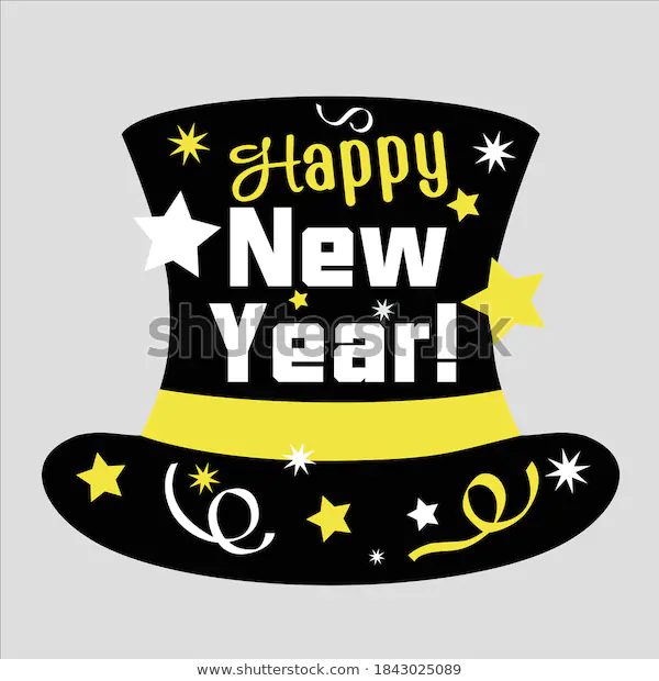 Happy New Year Year Decorlettering Text Stock Vector Royalty Free 1843025089 In 2020 Happy New Happy New Year Happy