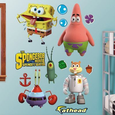 Fathead Nickelodeon SpongeBob Movie Peel And Stick Wall Decal - Spongebob wall decals