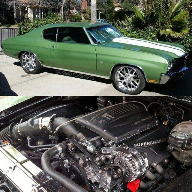 LS❌ FTW! 71 chevelle #BecauseSS green concave nutek brushed