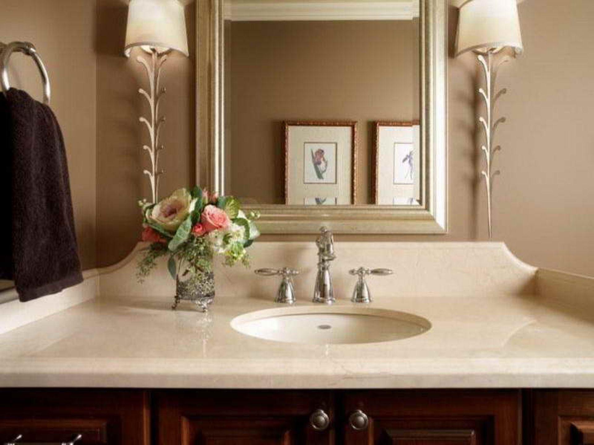 Bathroom Mesmerizing Undermount Round Sink In Ivory Cream Vanity