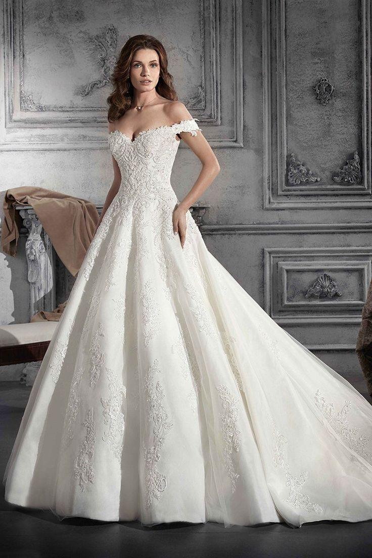 Schulterfreies Brautkleid – Ballkleid, Brautkleid aus Spitze Style