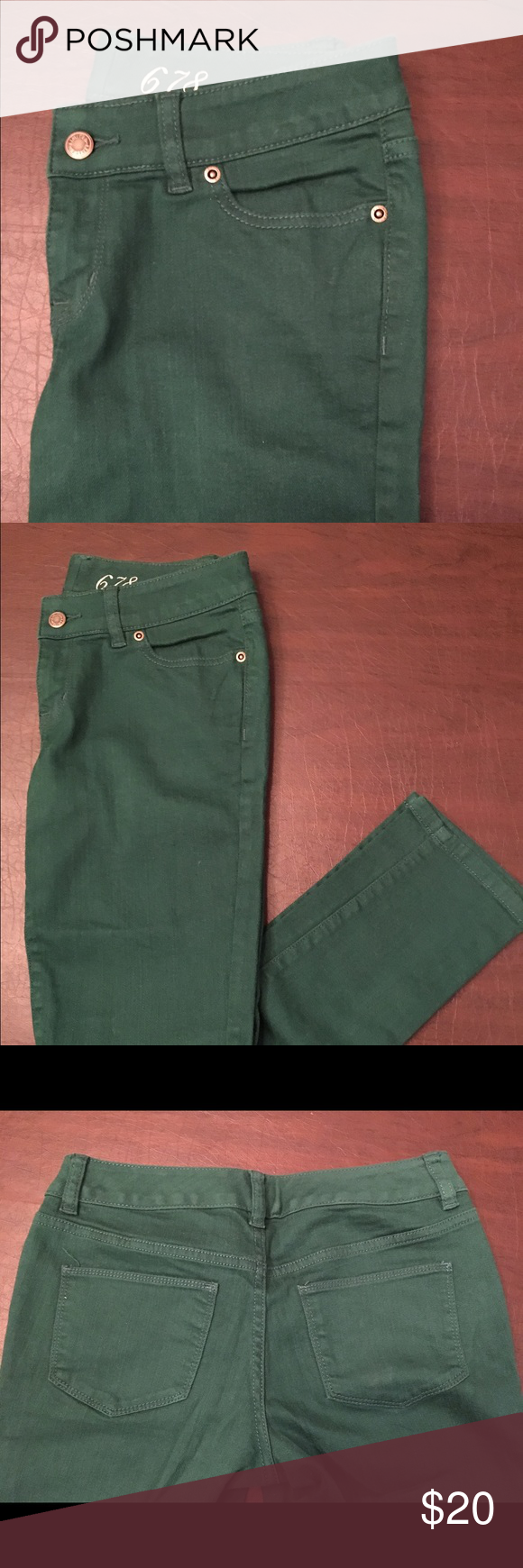 The Limited Emerald Green Skinny Jeans The Limited Emerald Green Skinny Jeans in Size 4. Low-Rise, Slim Hip and Thigh. Made of 98% cotton and 2% spandex. Excellent pre-owned condition. The Limited Jeans Skinny