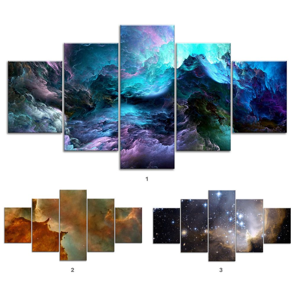 Galaxy Canvas Art Ideas Galaxycanvas Galaxycanvasart Space Nebula Galaxy Star Clouds Canvas Print Painting Framed Home Decor Cloud Canvas Painting Star Cloud