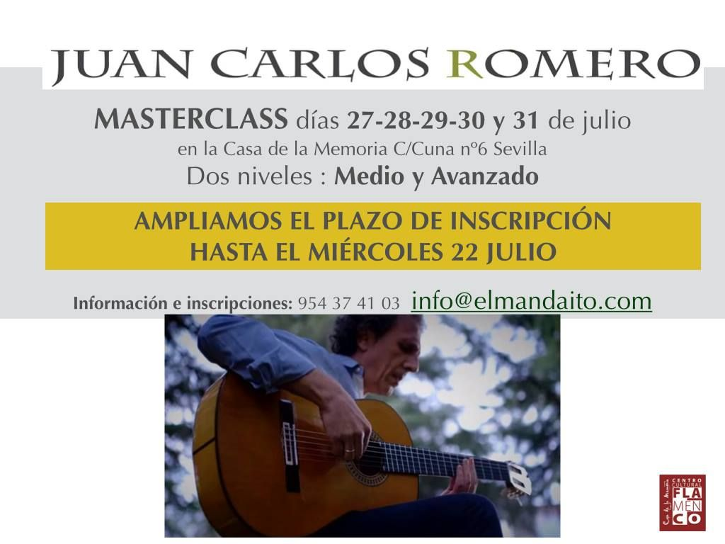 Fundación Guitarra Flamenca Www Fundacionguitarraflamenca Com Juan Carlos Romero Master Class Clases En Linea Cursillo Juan Carlos
