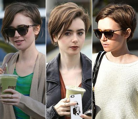 Lily Collins Short Hair Google Search Short Hairstyle
