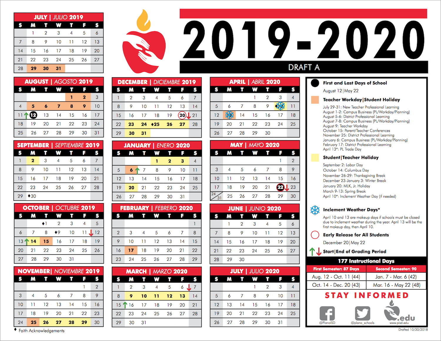 Plano Isd Calendar 2022.P I S D 2 0 2 0 2 0 2 1 C A L E N D A R Zonealarm Results