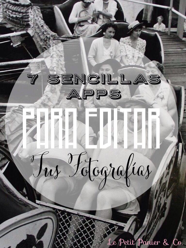 Apps para retocar y editar fotos de manera rápida y fácil, hacer collages, poner textos y títulos, efectos y Marcos, etc