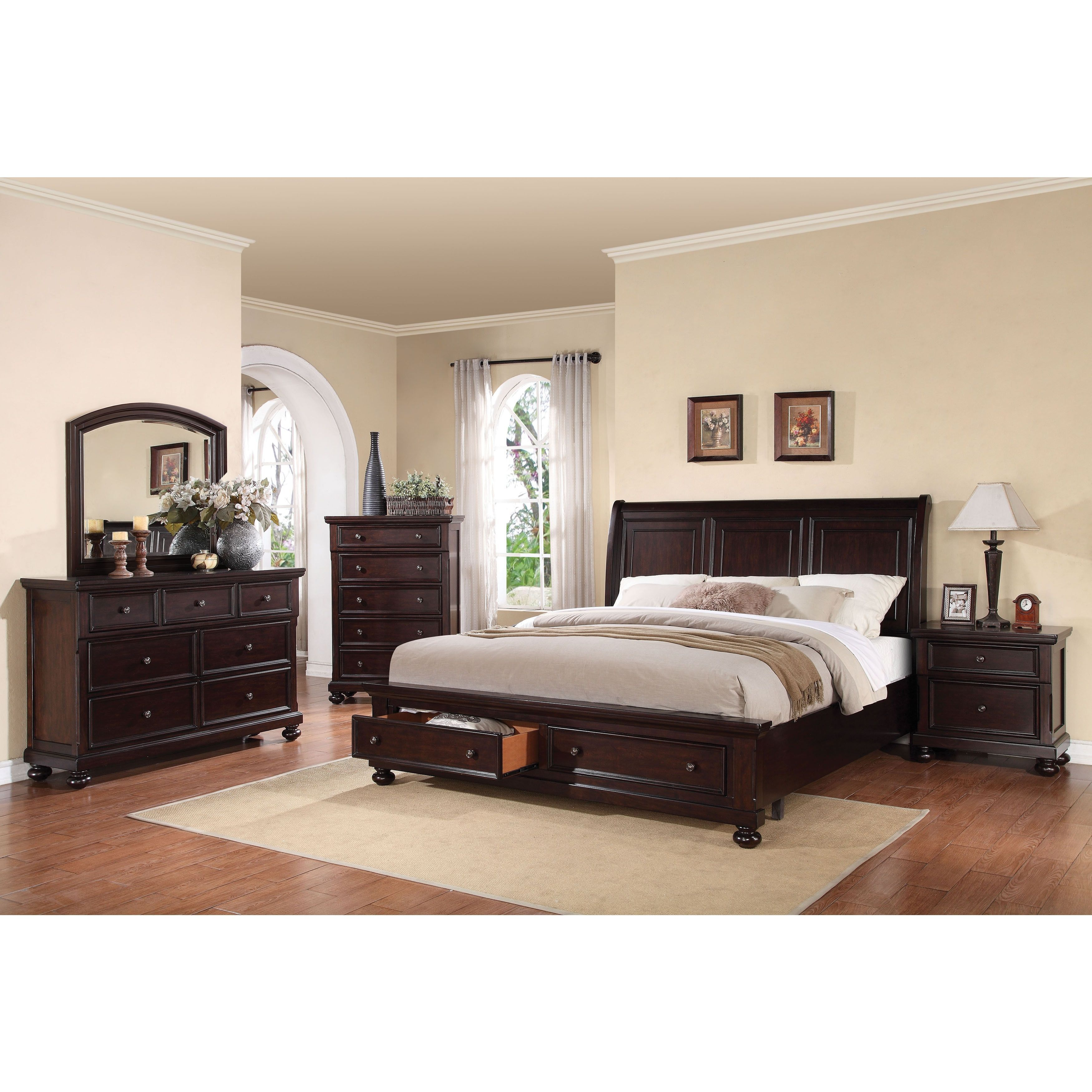 Acme Furniture Grayson 4-piece Storage Sleigh Bedroom Set ...