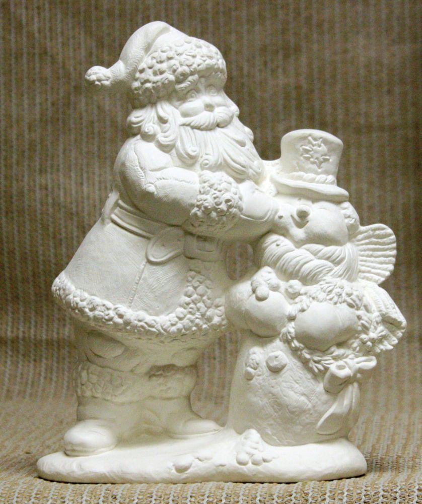 Ready to Paint with Light kit Santa Bear 9 Ceramic Bisque