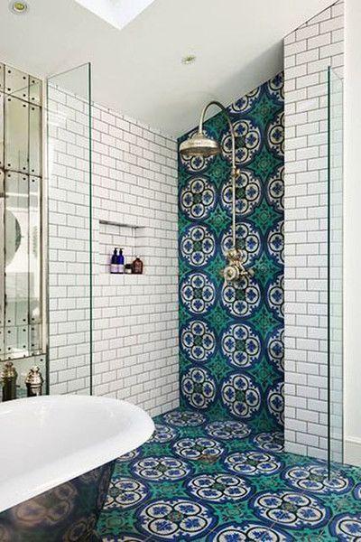 Tile Flow Bohemian BathroomBathroom