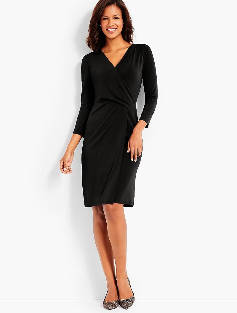 37dd459e10c0 Bella Faux-Wrap Sheath Dress