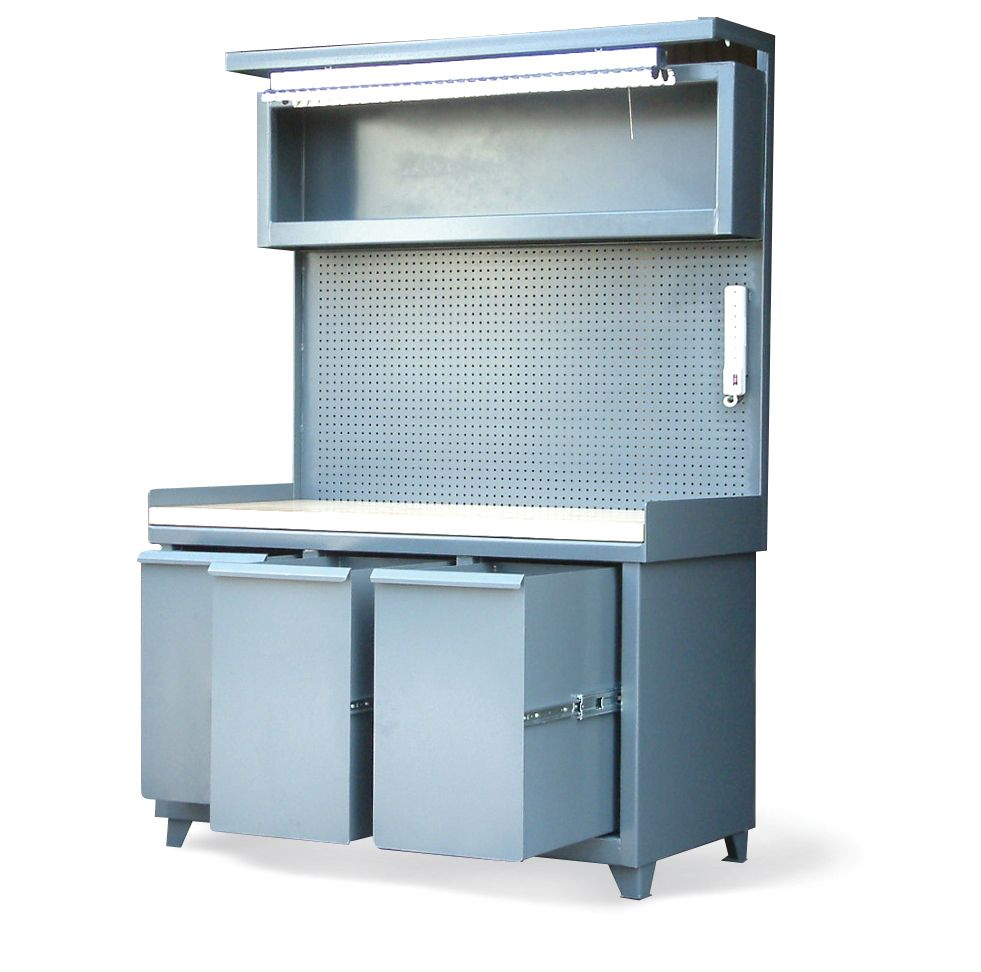 Workstation with Large Slide Out Drawers - Workstation with 3 large ...
