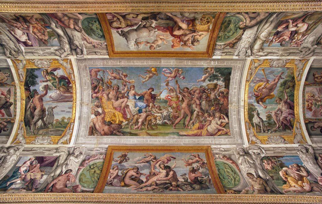 アンニーバレ カラッチ ガレリア ファルネーゼ天井装飾画 画