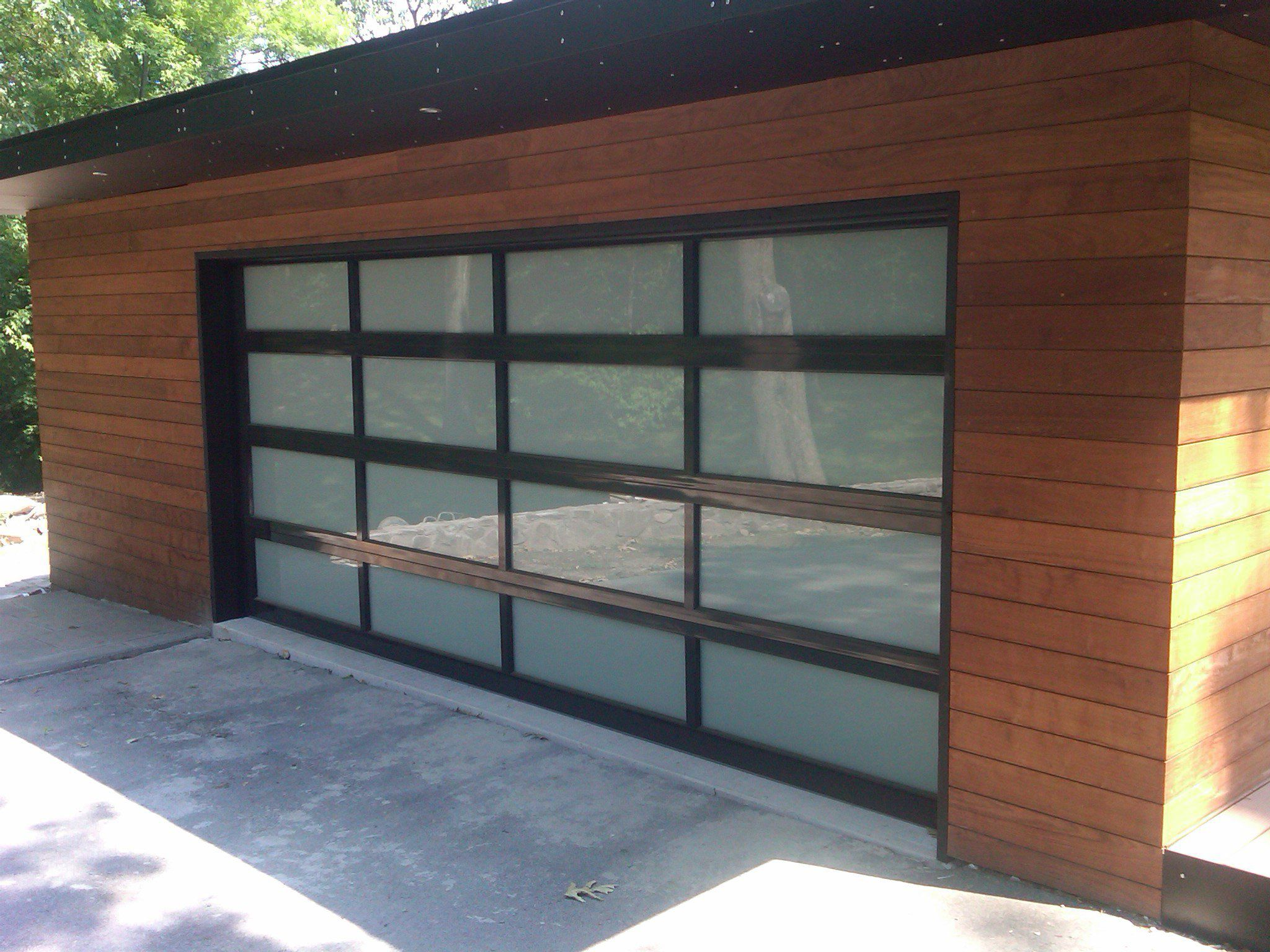 3295 C H I Aluminum Full View Door Powdercoated Black With Frosted Glass Small House Renovation Garage Doors Doors