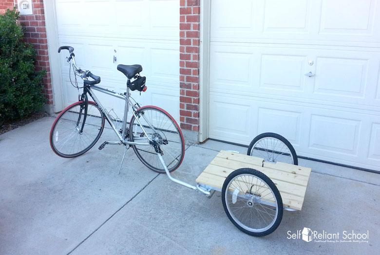 Building A Bike Trailer On The Cheap Self Reliant School Bike Trailer Build A Bike Bicycle Trailer