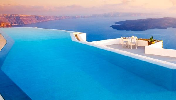 The infinity pool at grace hotel on santorini voyageur ideas santorini swimming pools - Santorini infinity pool ...