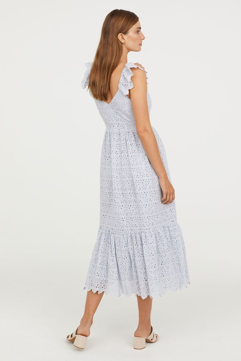 530945c26090c H&M Embroidered Dress $99 | H&M | Dresses, Calf length dress, Dress ...