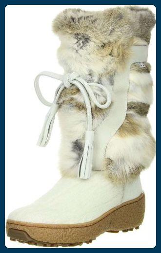 OSCAR Sport Damen Fellstiefel Snowboots weiß, Größe:39;Farbe
