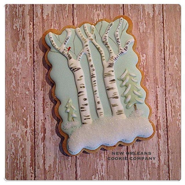 Christmas Winter Cookie #decoratedcookies #decoratedsugarcookies #designercookies #wintercookies #neworleanscookiecompany #neworleanscookies