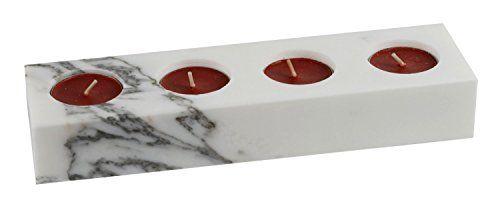 advent teelichthalter kerzenst nder f r 4 teelichter oder stumpenkerzen massiv marmor wei. Black Bedroom Furniture Sets. Home Design Ideas