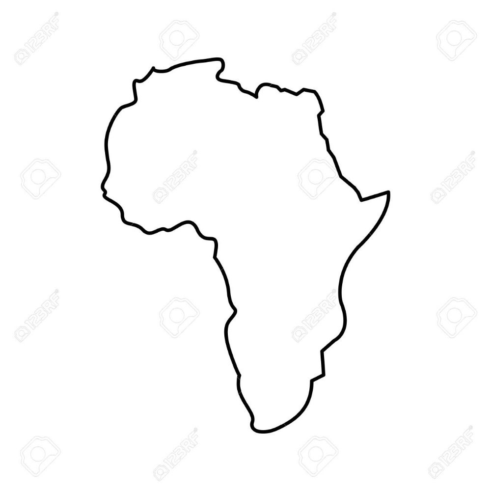 Outline Map Of Africa With Countries Free Vector Maps Africa Map Map Vector Map