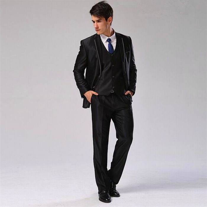 jacketpantsvesttie men suit slim fit casual wedding dress