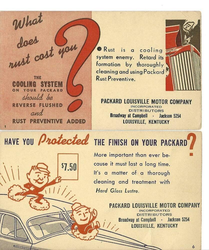 1940s Packard Postcards Packard Louisville Motor Company