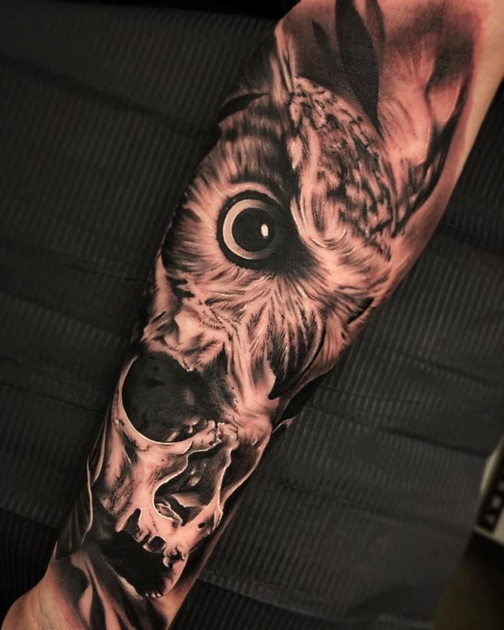 Photo of 50 of the most beautiful owl tattoo designs and their meaning for the nocturnal animal in him …