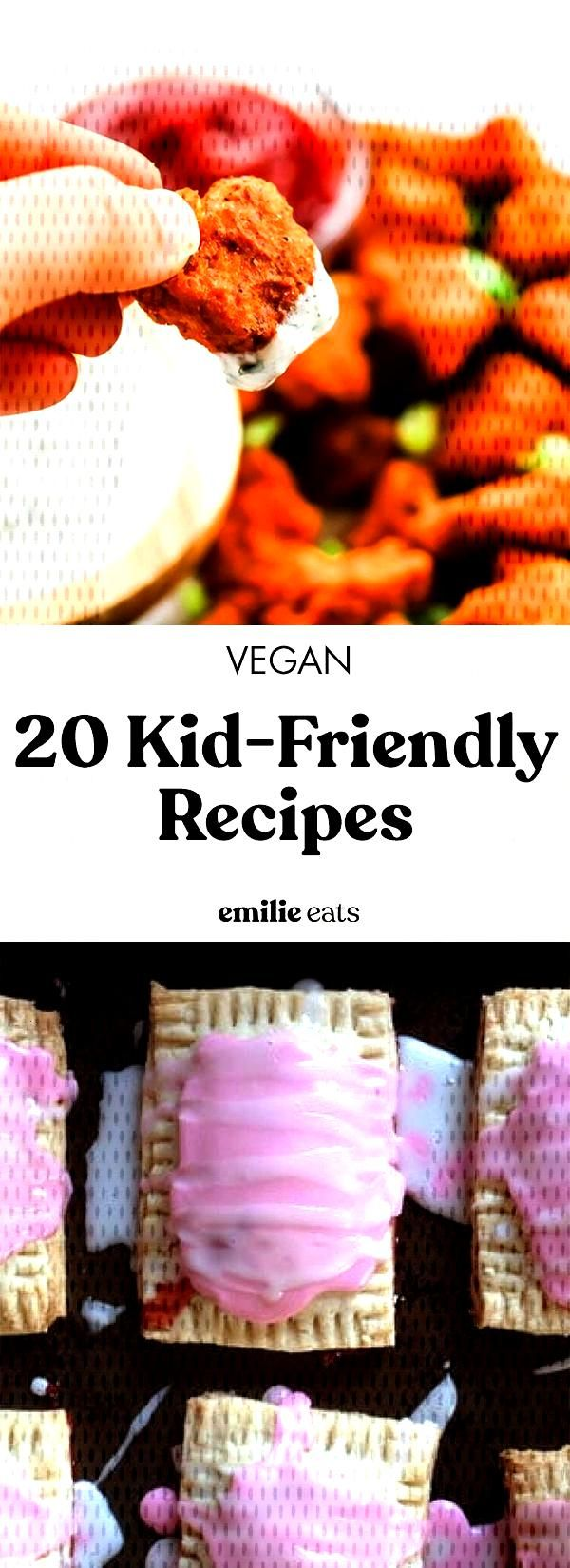 Try some of these 20 kid friendly vegan recipes to encourage the little ones in your family to eat